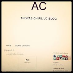 Nu uitați să-mi vizitați blogul. Don't forget to visit my blog. #AndrasChiriliuc #Blog #Romania