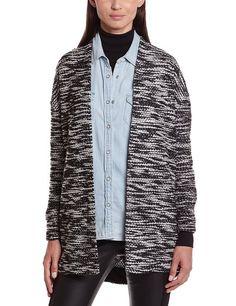 Vero Moda 10115178 - Jersey de punto, con manga larga para mujer, color schwarz - noir (black/snow white), talla 36