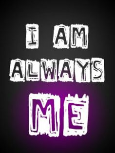 i am different | am Me....