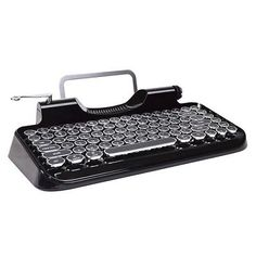 Typewriter Bluetooth Wireless Mechanical Keyboard With Integrated Tablet Stand, Shipping FREE, Item location Los Angeles,CA,USA (  Color - Black, UPC - 084282725714     )