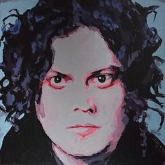 Just a better photo of the painting #jackwhite #muzikengel #whitestripes #portrait #art #artistsoninstagram #artistsofinstagram #rockstars #musicinart #theraconteurs #thedeadweather #notforsaleonmyetsy #commission