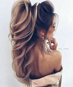 22 + 2019 year wonderful bridal hair designs, 22 + 2019 year wonderful bridal hair designs - 1 Are you even more confused when you look at… in 2020 Bride Hairstyles For Long Hair, Ponytail Hairstyles, Wedding Hairstyles, Cool Hairstyles, Elegant Wedding Hair, Wedding Hair And Makeup, Hair Makeup, Hair Wedding, Corte Y Color