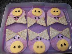 Farm Animal Theme. How cute for snack time.-- animal week