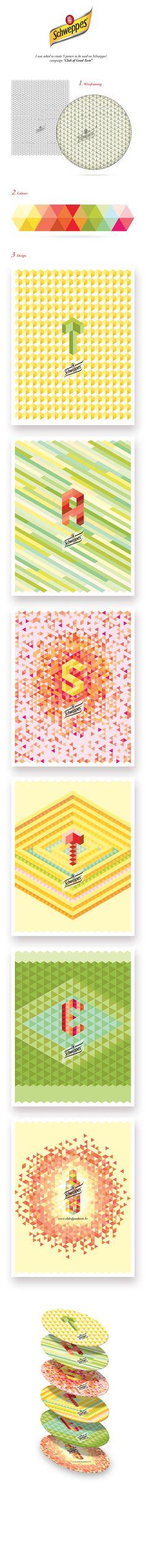 Schweppes Club of Good Taste Posters by Daniel Niño, via Behance