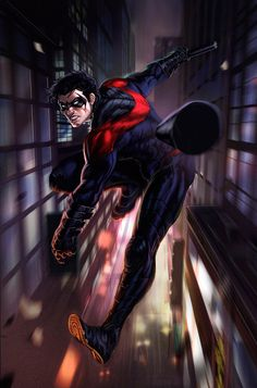 New 52 Nightwing by dleoblack on DeviantArt Comic Book Characters, Comic Character, Comic Books Art, Comic Art, Marvel Dc Comics, Dc Comics Art, Nightwing, Batgirl, Im Batman