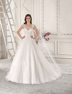 62327c353052 Demetrios - Wedding Dress Style 871 Cap Dress, Wedding Dresses With Straps, Bridal  Wedding