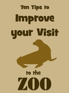 Tips to Improve your visit to the Zoo - these are great suggestions!