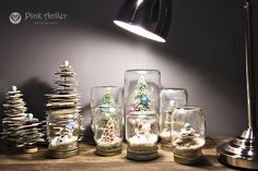 Anthropologie inspired Christmas craft using old book clippings and vintage ornaments.
