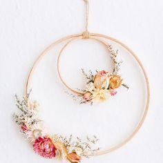 1Pcs DIY Bamboo Circle Hoop Floral Wreath Macrame Rings  Dream Catcher Crafts A