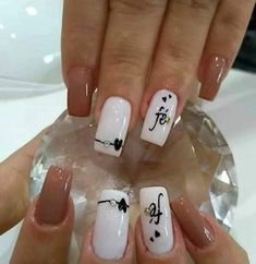 Coffee Staining, Classy Nails, Square Nails, Allrecipes, My Nails, Nail Designs, Girly, Nail Art, My Favorite Things