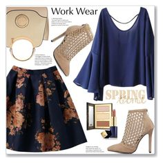 Work Wear by jecakns on Polyvore featuring polyvore, fashion, style, Dasein, tarte, Estée Lauder and clothing