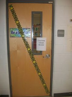 Classroom Crime Scene writing activity. How fun!