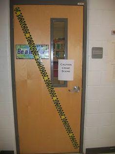Classroom Crime Scene writing activity. How fun!