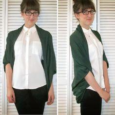 DIY Easy Cocoon Cardigan - FREE Sewing Tutorial