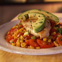 Chicken With Warm Tomato-Corn Salad