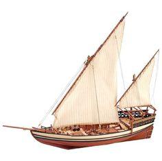 SULTAN ARAB DHOW - This beautiful model is a traditionnal sailing ship used along the coasts of the Arabian Penisula, India and East of Africa. // Este magnífico modelo es una embarcación tradicional utilizada en las costas de la Península Arábica, India y África Oriental.