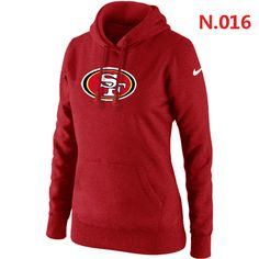 San Francisco 49ers Women's Nike Club Rewind Pullover Hoodie – Red
