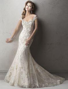Bridesire - Meerjungfrau-Linie / Mermaid-Stil U-Ausschnitt ärmellos Brautkleid…