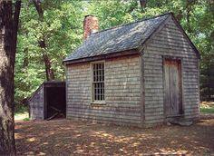 Thoreau's Cabin at Walden Pond.