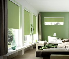"""Roller Blinds. Wow. What a """"duh"""" moment! The roller goes at the top!"""