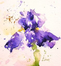 iris, flowers, purple, watercolor, painting, fine art, Lisa Livoni, Napa Valley artist, colorist