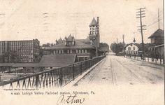 Lehigh Valley Railroad Train Station in Allentown PA 1911 | eBay