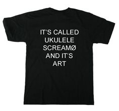 Twenty One Pilots: Ukulele Screamo Tee by simplymerch on Etsy --- i need this in my life !!