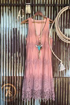 The Rosette Dress - Savannah Sevens Western Chic | #Trenditions