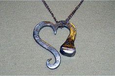 Resultado de imagen de heart into a cross necklace handmade lewistown pa