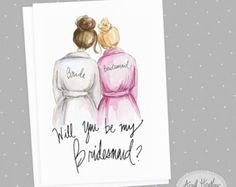 Bridesmaid PDF Download printable cards by aprilheatherart