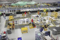 The F-35 Lightning II moves down the production line at Lockheed Martin's mile-long assembly plant in Fort Worth, Texas. http://weldingproductivity.com/article/lightning-strikes/