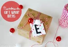 ideas to wrap little boxes for christmas - Bing images