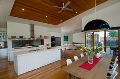 White kitchen with timber floor & wooden furniture can still work?