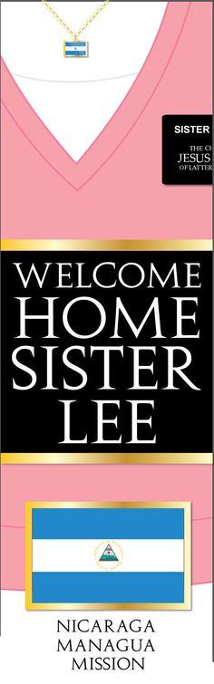 Giant LDS Missionary Welcome Home Banner Poster por MeckMom en Etsy