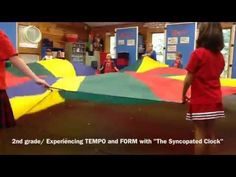 "2nd Gr ""Syncopated Clock"" with Parachute - YouTube"