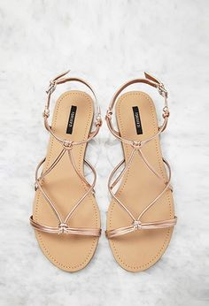 Metallic Knotted Sandals   Forever 21 - 2000052953
