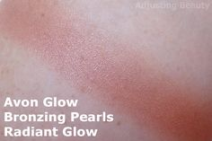 Review and swatch of Avon Glow Bronzing Pearls in Radiant Glow