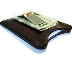 10dc32f22 Leather money clip wallet, personalized money clip, flip clip wallet,  credit card holder