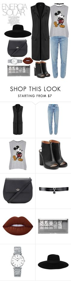 """""""Energia solar"""" by amrinjo ❤ liked on Polyvore featuring WearAll, M.i.h Jeans, Topshop, Maison Margiela, Kate Spade, Fallon, Lime Crime, Boohoo, Longines and Magdalena"""