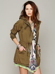 Free People Green Parka, 249.00