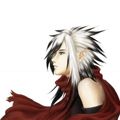 Adopted !! Rein . Age 17 . He loves the color red and always wares something  with red on it . He was born with natural white hair . He loves books and he is very good with a sword