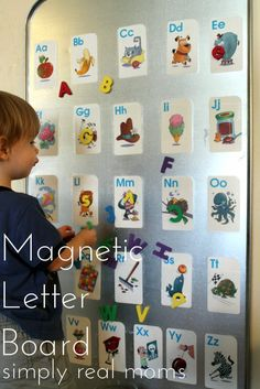 Make the alphabet fun for your toddler with this magnetic letter board!