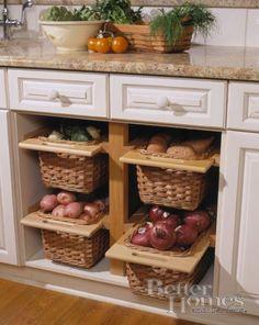 Veggie storage baskets...
