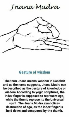 The pic is incorrect and the thumb should be more over the nail if the index finger to be accurate. Acupuncture, Acupressure, Qi Gong, Yoga Mantras, Meditation Quotes, Yoga Quotes, Quotes Quotes, Hand Mudras, Spiritual Enlightenment