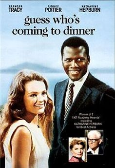 Classic Movies (TCM) Guess Who's Coming to Dinner (1967) Starring Spencer Tracy, Sidney Poitier, Katharine Hepburn, Katharine Houghton, Isabel Sanford, Roy Glenn, and Beah Richards.