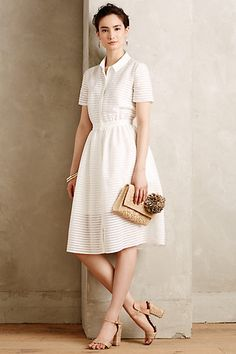 Sheerstripe Shirtdress #anthropologie #anthrofave