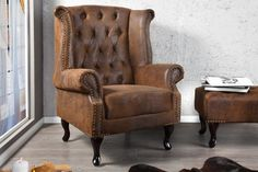 // Chesterfield Ohrensessel