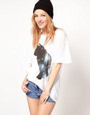 Wildfox Galaxy Cat T-Shirt