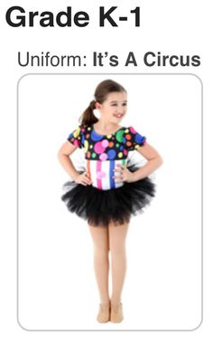 Hankinson Area Wee Petites Uniform 2014-2015 - It's A Circus - to register for classes go to www.justforkix.com/students or go to www.justforkix.com/danceclasses/hankinson_nd to find out more about Hankinson Just For Kix