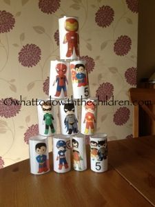 Free printable to put on TP tubes. Cute for fine motor skills (Bowling, stacking… Superhero Baby Shower, Superhero Birthday Party, 4th Birthday, Birthday Party Themes, Super Hero Day, Be My Hero, Superhero Family, Superhero Characters, Party Planning